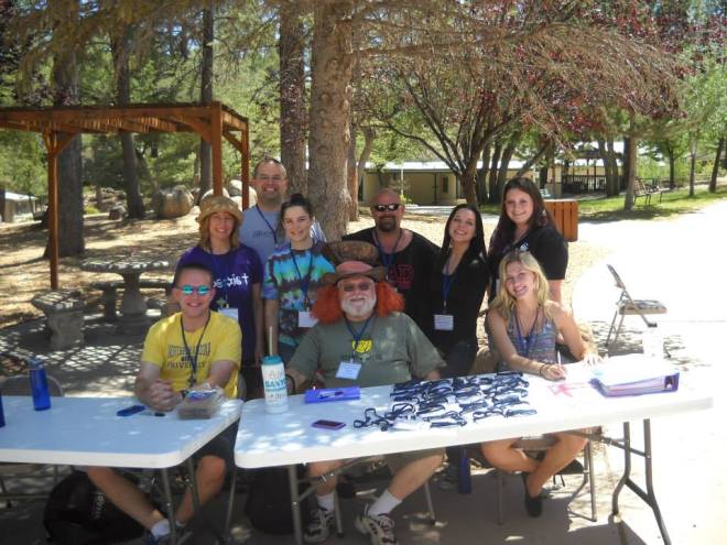 The staff of Chi-Rho Camp for the Christian Church (Disciples of Christ) in Arizona, June 2nd, 2013