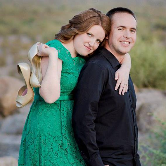 My fiancée, Caitie, and me, in Goodyear, AZ, on May 27th, 2013