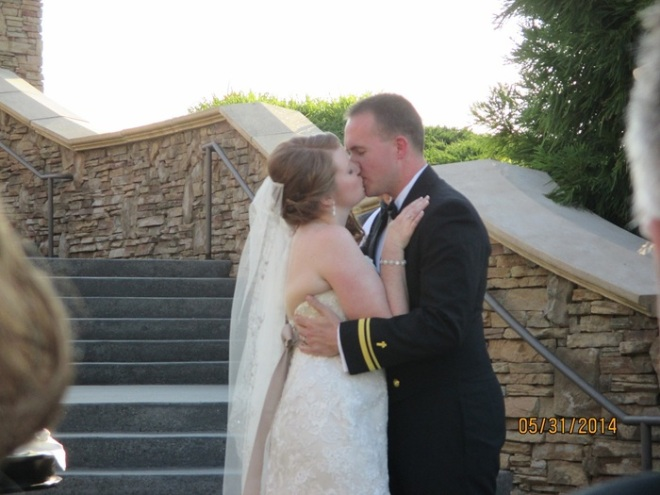 Finally, Jeremy declared us husband and wife and told me to kiss the bride!